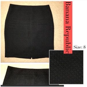 Banana Republic Black Textured Skirt ✅Offers✅